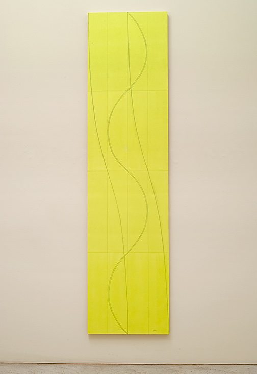 Robert Mangold / Robert Mangold Double Line Column 2   2005  304.8 x 76.2 cm  acrylic and pencil on canvas