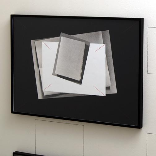 Giulio Paolini / Senza titolo  (dalle Œuvres Complètes)  1994  70 x 100 cm Farbstift und Collage auf Papier
