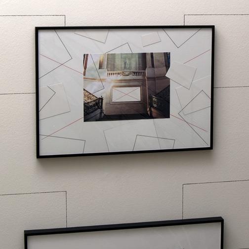 Giulio Paolini / Prologo  1993  50 x 70 cm Farbstift, Bleistift und Collage auf Papier