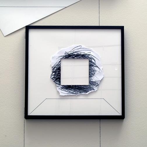 Giulio Paolini / Senza titolo  2008 -2009  50 x 50 cm Bleistift und Collage auf Papier und Plexiglas
