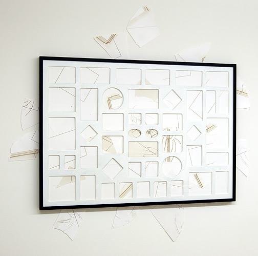 Giulio Paolini / Senza titolo  1998 - 2009  70 x 100 cm Pencil and collage on paper and on the wall