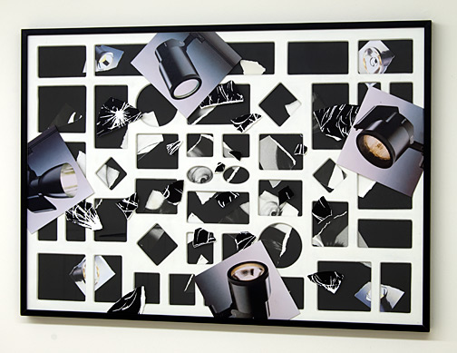 Giulio Paolini / Senza titolo  1998 - 2009  70 x 100 cm Collage auf Papier und Plexiglas
