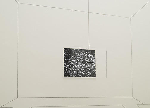 Giulio Paolini / Aula di disegno (Happy Days)  2006 Dimensions variable Photograph, digital print, acrylic glass plate, black pencil, pencil and collage on the wall