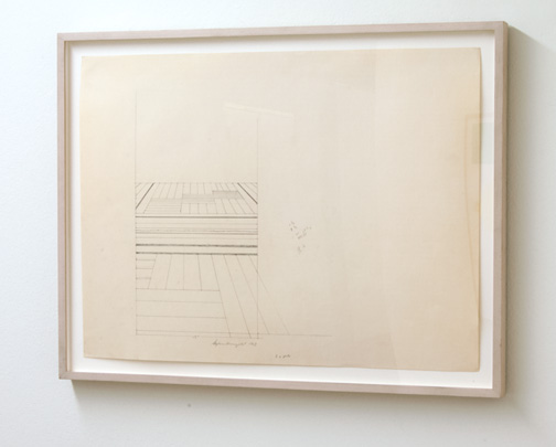 Sylvia Plimack-Mangold / Sylvia Plimack Mangold Study for «Hallway»  1969  45.7 x 61 cm pencil on paper