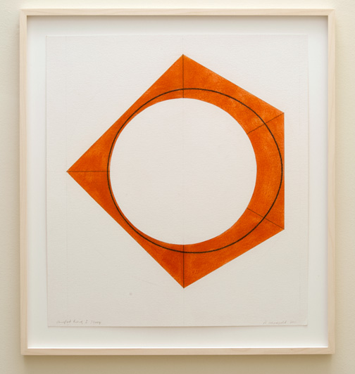 Robert Mangold / Robert Mangold Angled Ring I Study  2011  76.2 x 68.6 cm pastel and pencil on paper