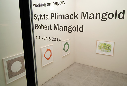 Robert Mangold,  				Sylvia Plimack-Mangold, Working on Paper