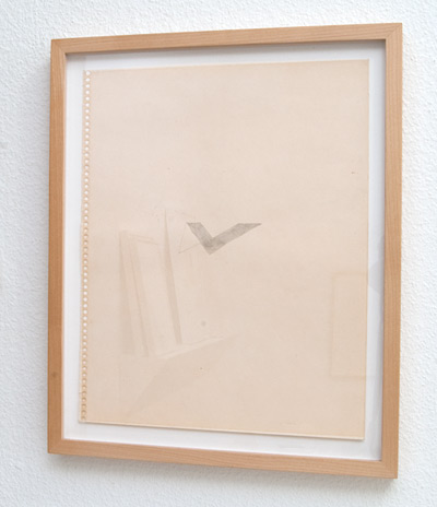 Richard Tuttle / Beginning of Spiraling  1974  35.6 x 28 cm pencil and grey ink on paper