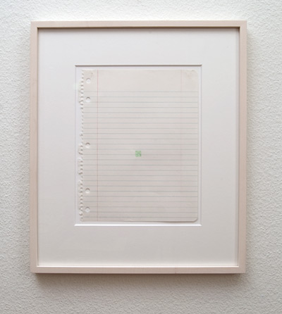 Richard Tuttle / Confirmation Series (2)  1976  25.4 x 20.2 cm  pencil and gouache /green on paper