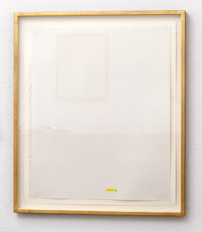 Richard Tuttle / Florida Works (20)  1975  43.2 x 35.5 cm pencil and watercolor/yellow on paper