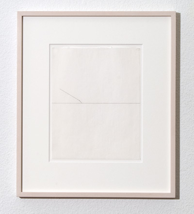 Richard Tuttle / Line  1976  25.3 x 20.3 cm pencil on paper