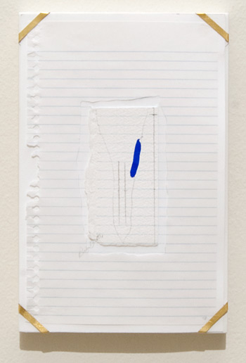 Richard Tuttle / Indianapolis, 7  1994  25.7 x 16.8 x 1.9 cm archival paper, colored pencil, gouache, notebook paper, pencil, watercolor paper and artist's frame with gold hardware