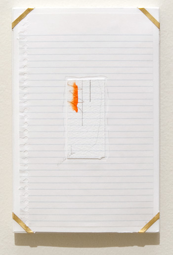 Richard Tuttle / Indianapolis, 8  1994  25.4 x 16.8 x 1.9 cm archival paper, colored pencil, gouache, notebook paper, pencil, watercolor paper and artist's frame with gold hardware