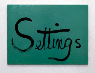 Ree Morton / Ree Morton Settings (Signs of Love)  1976  33 x 43 cm Oil on plywood