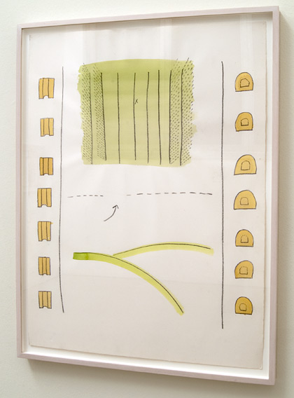 Ree Morton / Ree Morton Untitled (Game Drawing)  1972 / 1973  76.8 x 56.5 cm Watercolor and graphite on paper