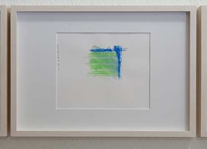 Richard Tuttle / Division # II – 5 RT'14  2014  22 x 31 cm Pencil, colored crayon and watercolor on paper