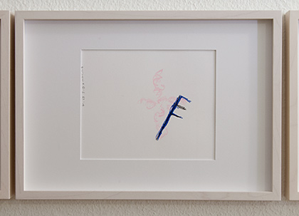 Richard Tuttle / Division # III – 5 RT'14  2014  22 x 31 cm Pencil, colored crayon and watercolor on paper