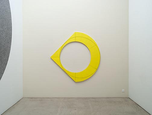 Richard Tuttle / Robert Mangold Compound Ring III   2012  183 x 183 cm Acryl und schwarzer Farbstift auf Leinwand