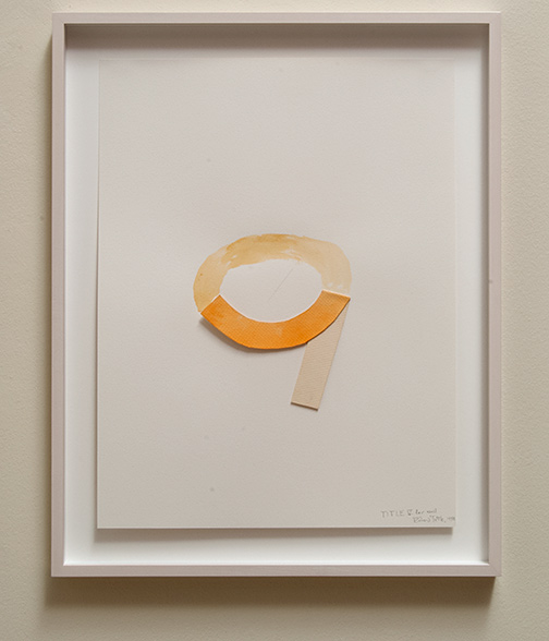 Richard Tuttle / Title IV for wall  1978  74.9 x 56.5 cm pencil and watercolor on paper collage