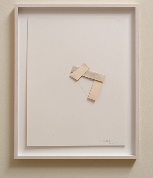 Richard Tuttle / Title V for wall  1978  74.9 x 56.5 cm pencil and watercolor on paper collage