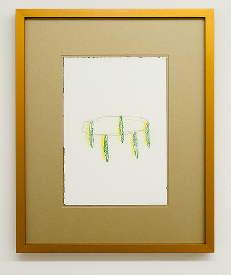 Richard Tuttle / Fake Gold No. 1  2015  each 43 x 34.5 cm / 34.5 x 43 cm pastel and pencil on paper