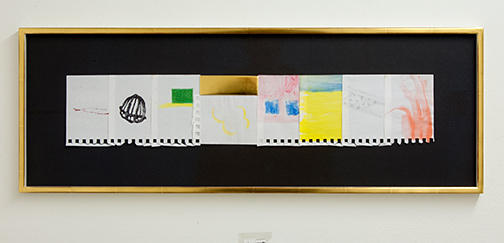 Richard Tuttle / Rest on the Flight to Egypt  2009  29.5 x 82.5 cm   watercolor, acrylic, graphite and goldleaf on paper on cardboard (in artists frame)