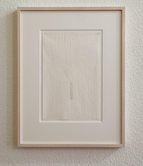 "Richard Tuttle / 52 1/2"" Center Point Works V (4)  1976  22.8 x 15.2 cm  pencil on paper"