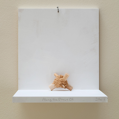 Richard Tuttle / Along The Praise Of Stars #1  2019  7 x 9.5 x 6 cm painted clay and wood