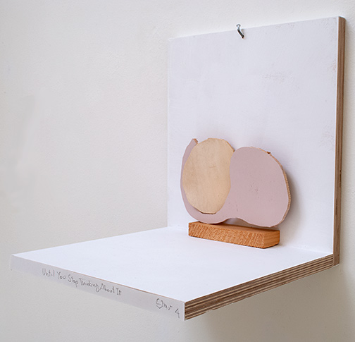 Richard Tuttle / Until You Stop Thinking About It     Stars #4  2019  15 x 19 x 4 cm wood and painted wood