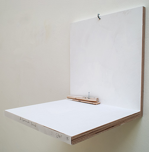 Richard Tuttle / A Grain Of Sand Stars #8  2019  4.2 x 15.5 x 2.7 cm painted wood and painted nail