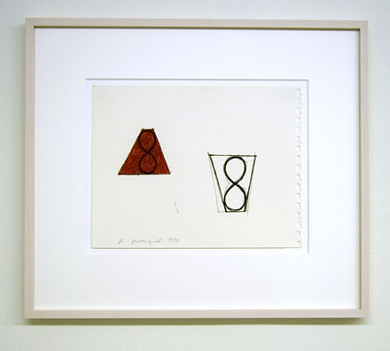 Robert Mangold / Untitled  1990  21.6 x 28 cm ink and crayon on paper