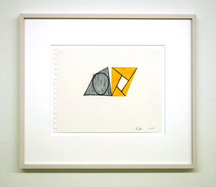 Robert Mangold / Untitled  1989  21.6 x 28 cm ink and crayon on paper