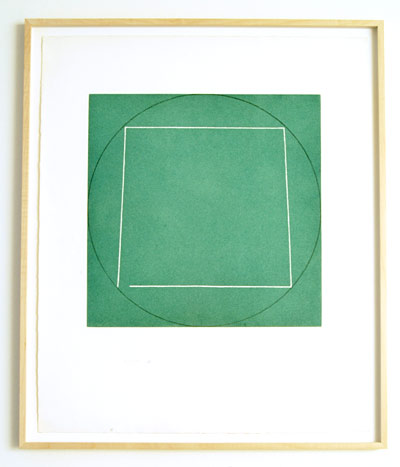 "Robert Mangold / Portfolio of 7 aquatints  1973  68.4 x 56.3 cm  /  36 x 36.75 "" aquatint Ed. 21/50; #1"