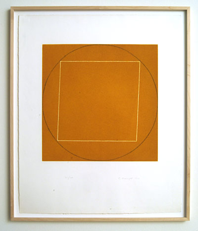 "Robert Mangold / Portfolio of 7 aquatints  1973  68.4 x 56.3 cm  /  36 x 36.75 "" aquatint Ed. 21/50; #6"