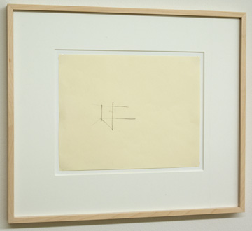Fred Sandback / Untitled  1974  21.6 x 27.9 cm Pencil on paper FLS 0170