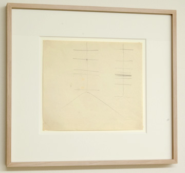 "Fred Sandback / Untitled  (Corner Studies) 1971  20.3 x 23.5 cm  /  9.5 x 10.25 "" Pencil on paper FLS 0947"