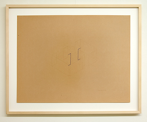 Fred Sandback / Untitled  1981  50 x 65 cm pencil and colored crayon on cream paper Annemarie Verna Galerie Mühlegasse 27