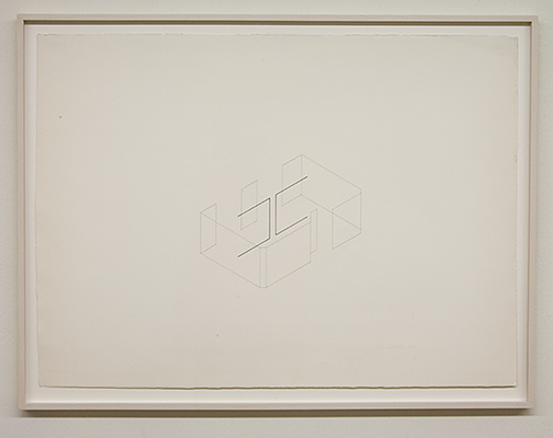 Fred Sandback / Untitled  1976  56 x 76.4 cm pencil and ink on paper  Annemarie Verna Galerie Mühlegasse 27