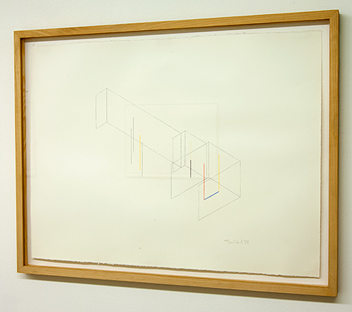 Fred Sandback / Untitled  1988  56 x 76 cm colored crayon on paper Annemarie Verna Gallery Scheuchzerstrasse 35