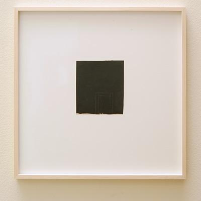 James Bishop / James Bishop (*1927) Untitled  2012  12.9 x 12.5 cm Oil and crayon on paper