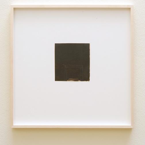 James Bishop / James Bishop (*1927) Untitled  2012  13.1 x 12.2 cm Oil and crayon on paper