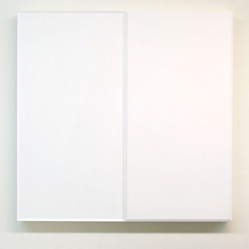 Andreas Christen / Andres Christen (1936-2006) Ohne Titel  1988 82 x 84 x 8.5 cm MDF, white paint sprayed