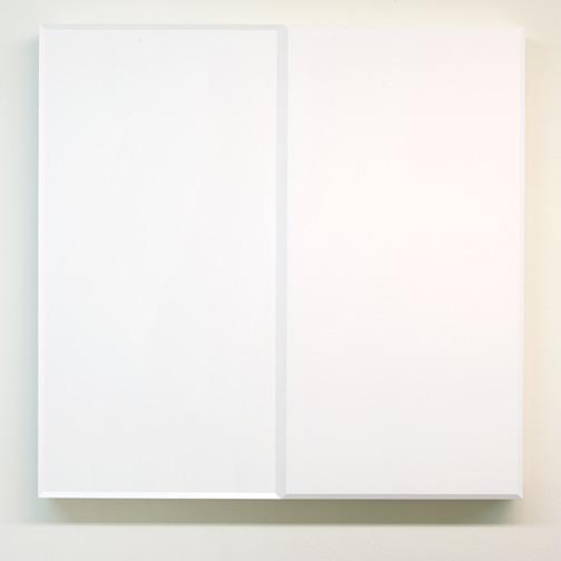 Andreas Christen / Andres Christen (1936-2006) Ohne Titel  1988 82 x 84 x 8.5 cm MDF weiss gespritzt