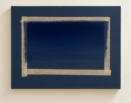 Sylvia Plimack-Mangold / Sylvia Plimack Mangold (*1938) One Stroke  1979 Öl auf Leinwand 38 x 50.7 cm