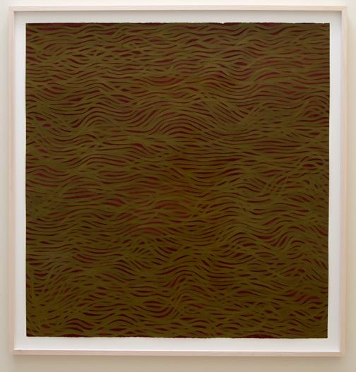 Sol LeWitt / Sol LeWitt (1928-2007) Horizontal Bands (More or Less)  2002  154 x 147 cm Gouache on paper