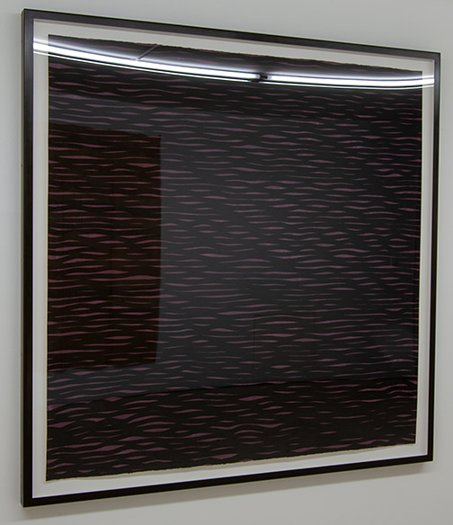 Sol LeWitt / Sol LeWitt Horizontal Lines, Black on Colors  2005  152.4 x 153.7 cm   gouache on paper