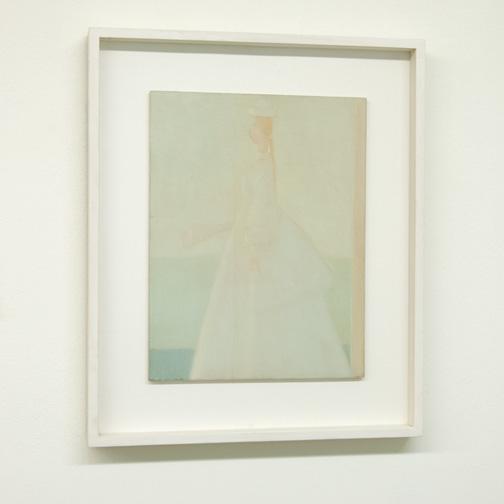 Antonio Calderara / Antonio Calderara  Romantica (La Sposa)  1958  35 x 27 cm Oel auf Holztafel