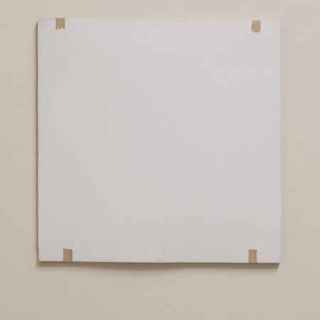 Robert Mangold / Robert Ryman Untitled  1969  50.8 x 50.8 cm Acrylic polymer on fiberglass mounted on featherboard