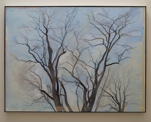 Sylvia Plimack Mangold / Sylvia Plimack Mangold The Locust Trees  1988  152.4 x 203.2 cm   oil on linen