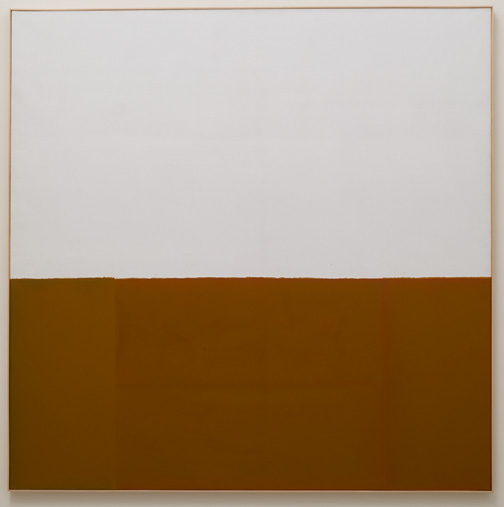 James Bishop / James Bishop Untitled (Bank)  1974  195 x 195 cm   oil on canvas