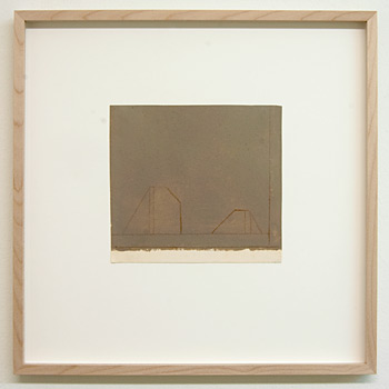 James Bishop / James Bishop Untitled  2009 16.7 x 18.1 cm oil and crayon on paper